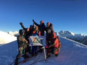 On the summit of Mera Peak