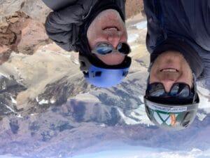 Enjoying the summit of Aconcagua