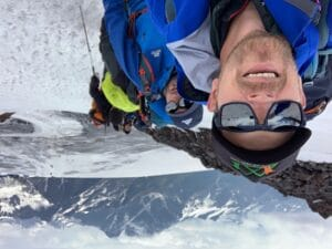 Ian Taylor on Mount Elbrus