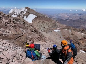 Near the summit of Aconcagua
