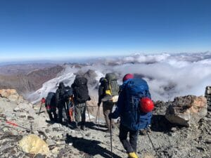 Moving down to Base Camp