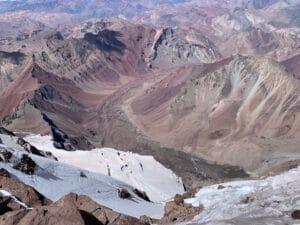 Looking off Aconcagua