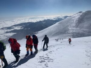Close to the summit of Elbrus