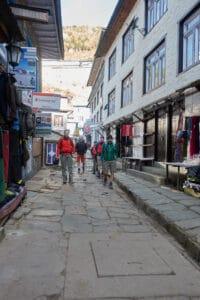 The streets of Namche Bazaar