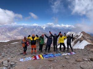 Ian Taylor Trekking Team on Aconcagua