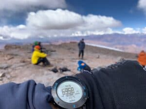 The highest point in South America