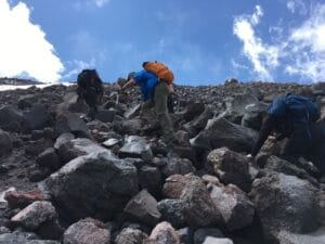 Steep route on Mount Elbrus