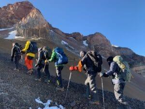 High on Mount Aconcagua