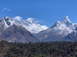 The famous view of Mount Everest
