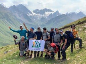 Ian Taylor Trekking team on Mount Elbrus
