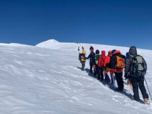 The summit of Mount Elbrus