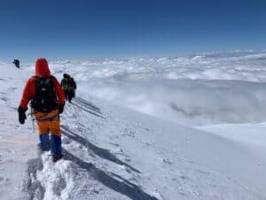 Heading back down Mount Elbrus