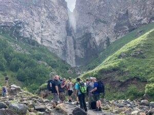 Waterfall near Mount Elbrus