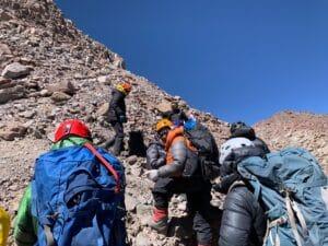 22,400 feet high on Aconcagua