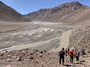 Vacas valley route to Aconcagua