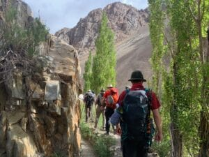 Hiking into the Vacas valley