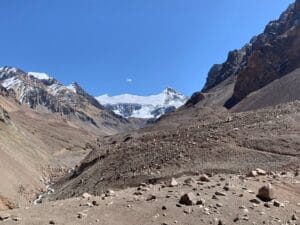 The route into Base Camp