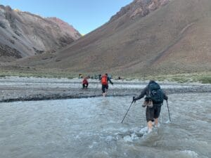 River cross on Aconcagua