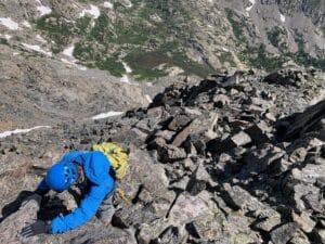 Scrambling on Quandary peak