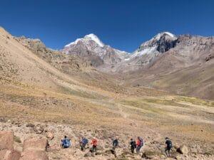 Hike into Aconcagua Base Camp