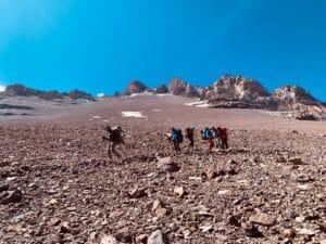 The terrain high on Aconcagua