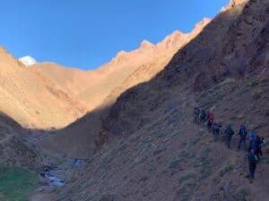 The trail as we hike towards Aconcagua