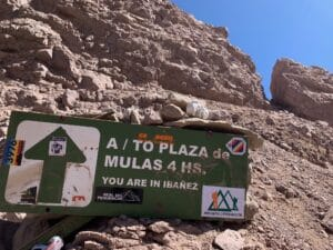 The route to Plaza de Mulas Base Camp