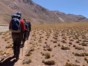 The trail on the Vacas valley