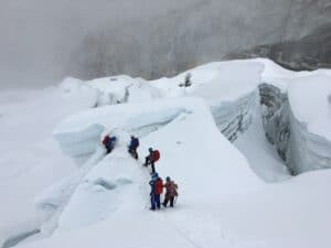 The Island Peak glacier
