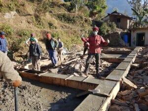 Ang Kami Sherpa Building the School