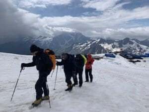 The south side of Mount Elbrus