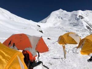 Camping on Himlung Peak