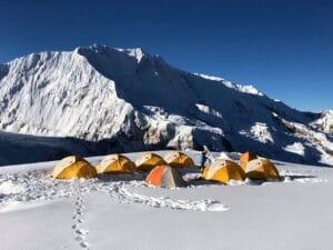 High on Himlung Peak