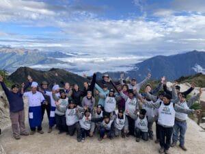 The famous Inca Trail in Peru