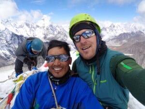 On the summit of Island Peak