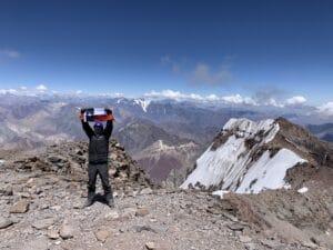 Mount Aconcagua summit 2020