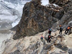 Moving back to Island Peak High Camp