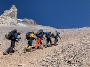 Hiking up Aconcagua