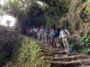 Descending on the Inca Trail