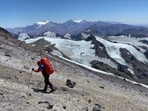 The route up Aconcagua