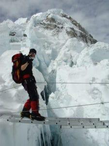 Filming on Mount Everest