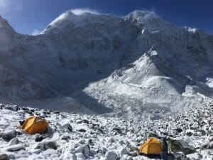 Above Island peak high camp