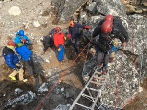 Island Peak ladder training