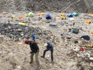 Fixed line training at Island Peak Base Camp