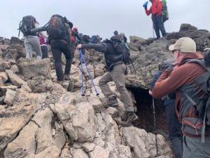 Steep hiking above 15,000 feet