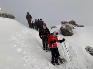 Hiking down Kilimanjaro