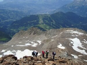 Steep terrain on Mont Blanc