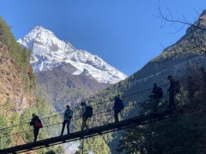 Hiking in the Everest region of Nepal