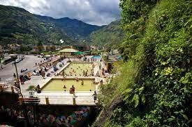 Hot springs in Banos